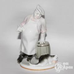 "Скульптура ""Кот и повар"""
